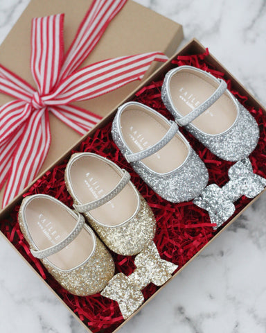 Baby Glitter Shoes Gift Set