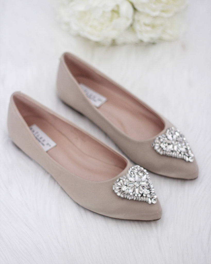 Champagne wedding flats