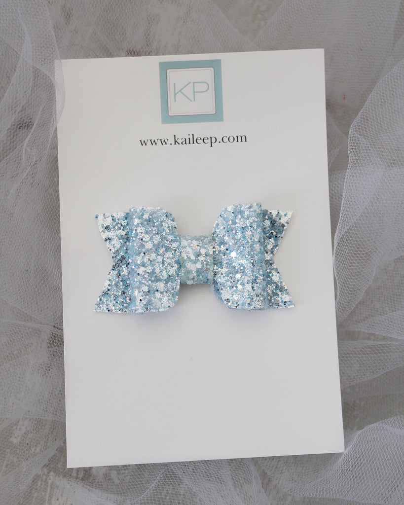 Light Blue Rock Glitter HAIR CLIP or SHOE CLIP