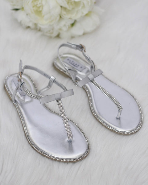 silver wedding sandal