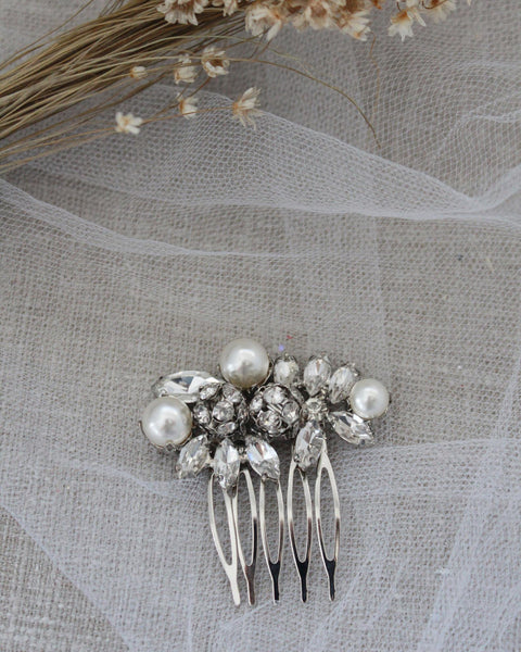 Pearls Mini Hair Comb