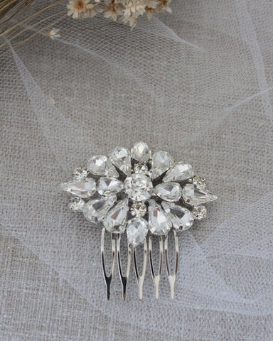 Cluster Teardrops Mini Hair Comb