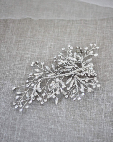 Scattered Leaves Rhinestones Hair Clip