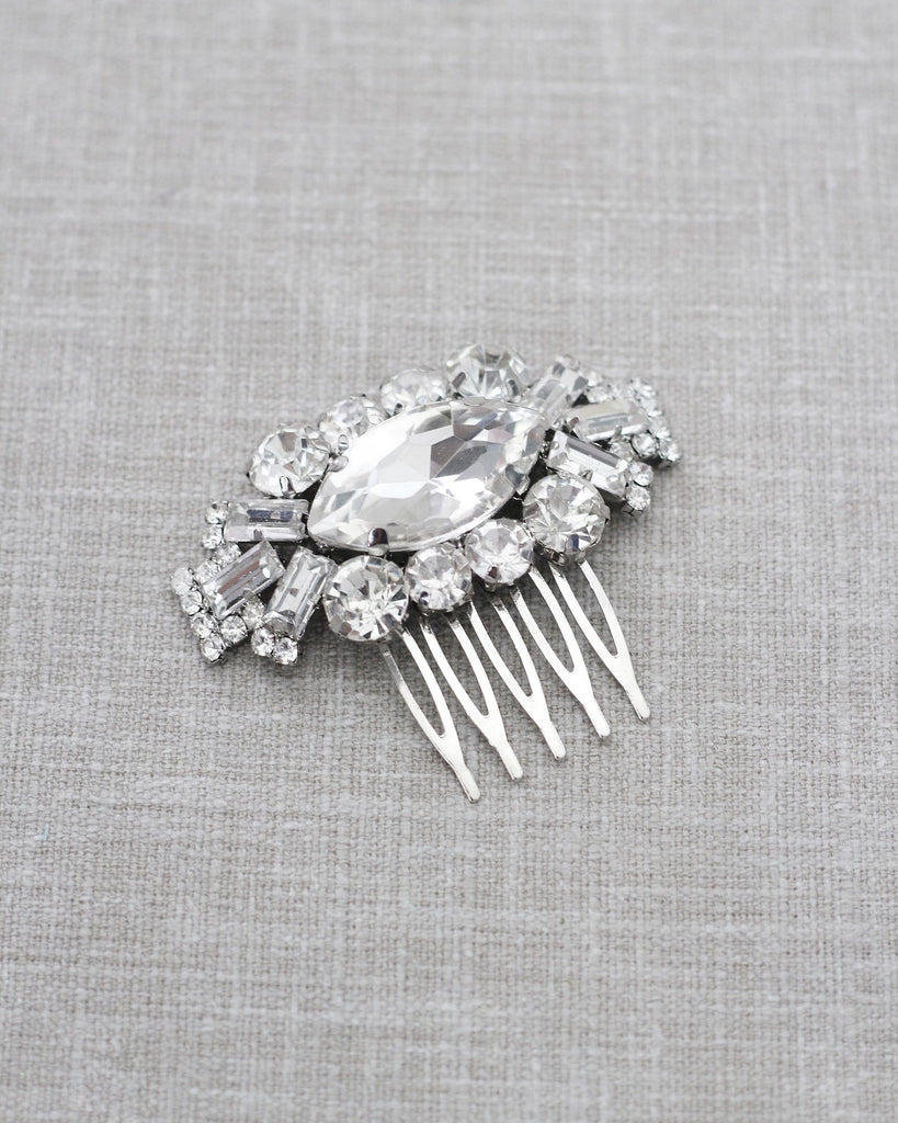 Marquise Medallion Jeweled Hair Comb