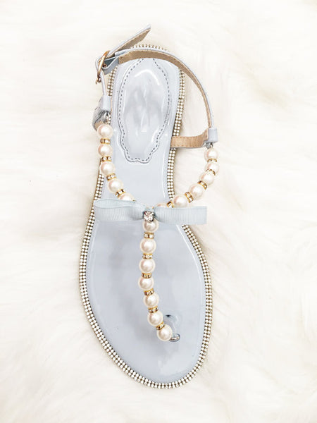 light blue sandals for wedding