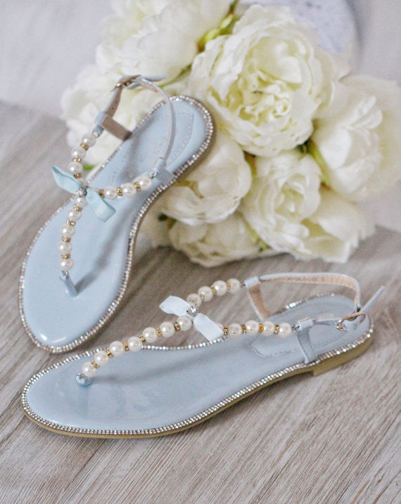 light blue wedding sandals