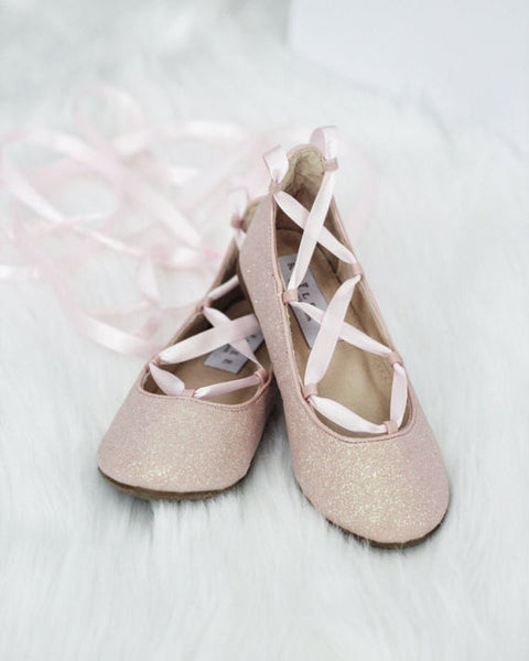 dusty pink ballet shoes for girls