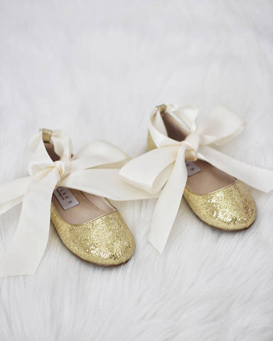 gold ballet shoes