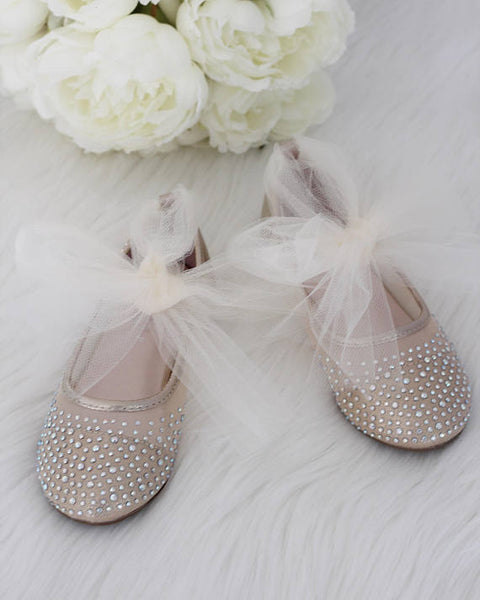 gold flower girls shoes