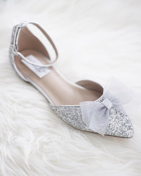 silver pointed toe shoes