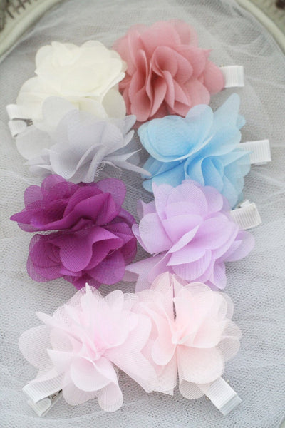 CHIFFON FLOWER Hair Clips for girls
