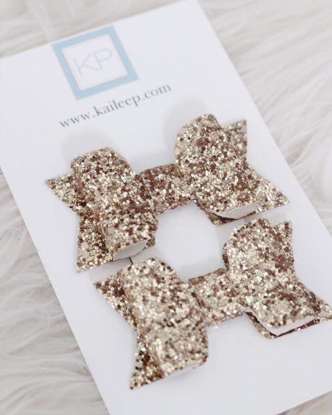 GOLD Rock Glitter HAIR CLIP or SHOE CLIP