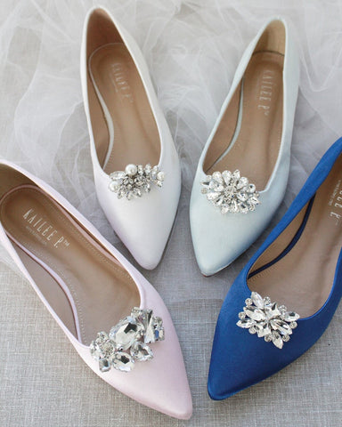 Jeweled Metal Shoe Clips