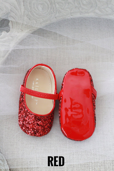 Glitter Baby Shoes Holiday Gift Set (5 PAIRS)
