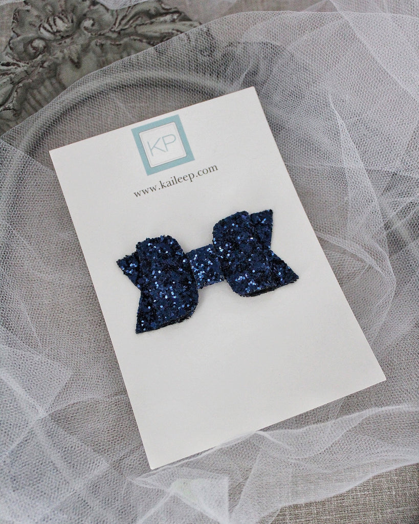 NAVY Rock Glitter HAIR CLIP or SHOE CLIP