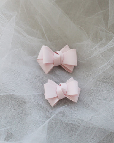Pink Grosgrain Bow HAIR CLIP or SHOE CLIP