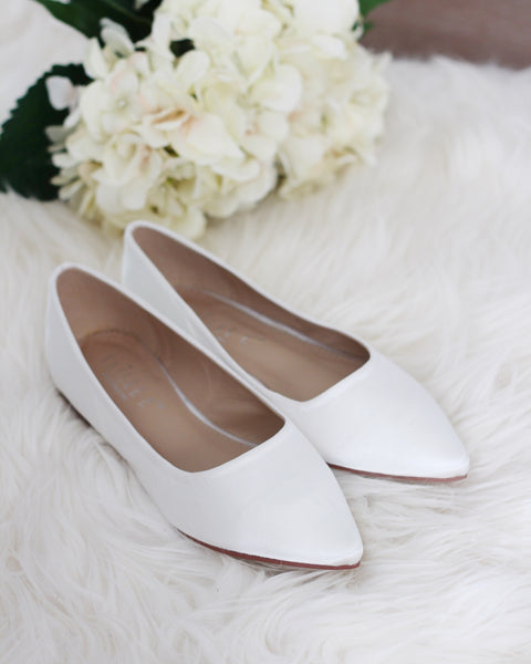 off white bridal flats