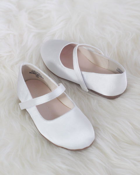 girls ivory Mary Jane shoes
