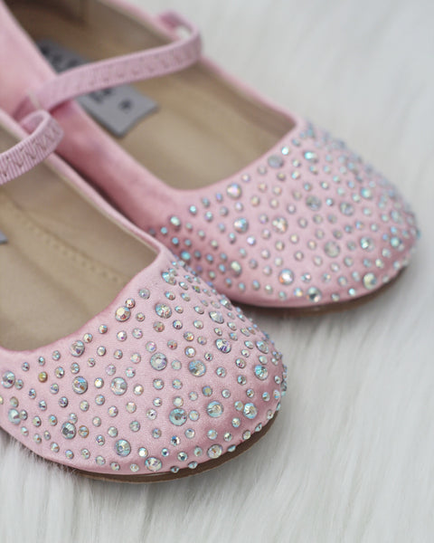 pink shoes with rhinestones