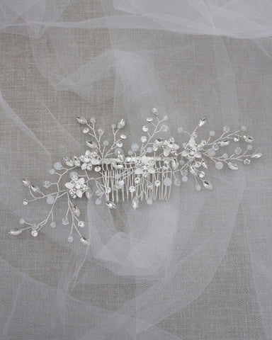 Crystal and Rhinestones Vine Sprays Hair Comb