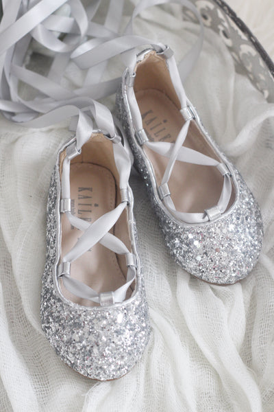silver toddler shoes