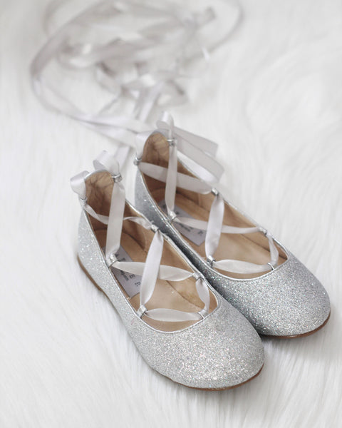 silver glitter shoes for girls