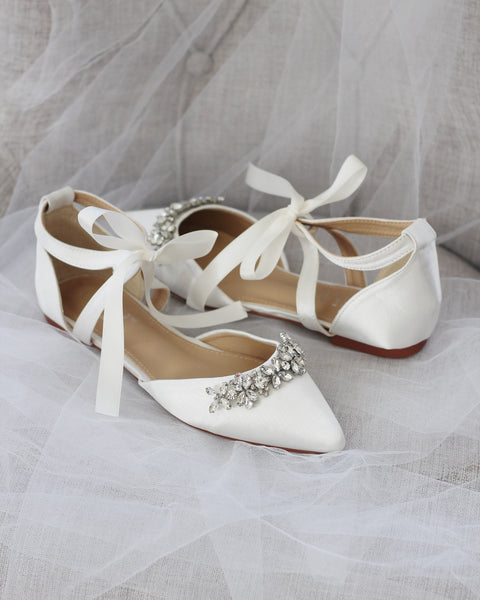 ivory wedding shoes for brides