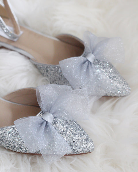 silver wedding shoes