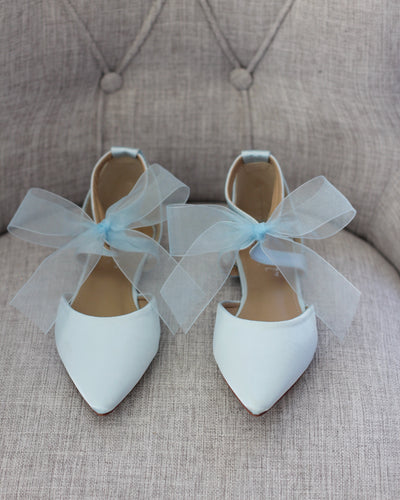light blue wedding flats
