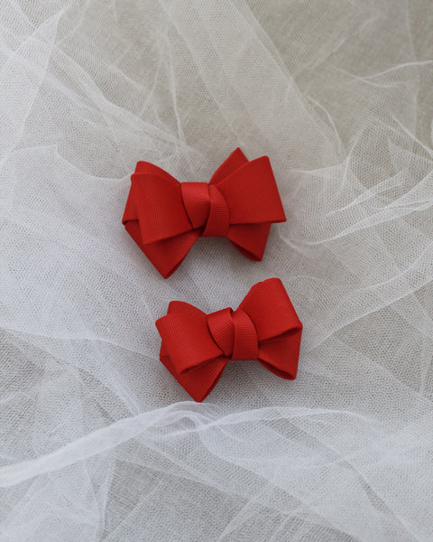 Red Grosgrain Bow HAIR CLIP or SHOE CLIP