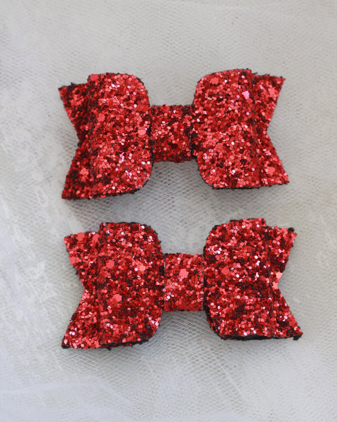 RED Rock Glitter HAIR CLIP or SHOE CLIP