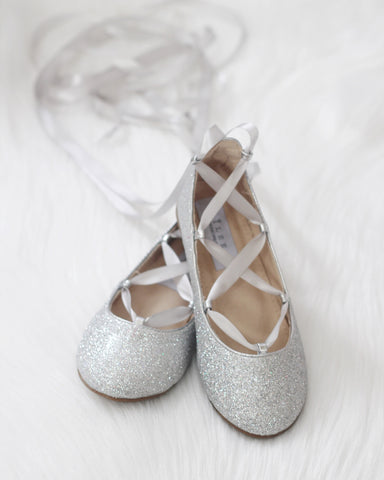 silver ballet shoes