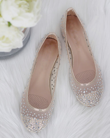Harper - GOLD Embellished Mesh Flats ,Women Shoes- Kailee P