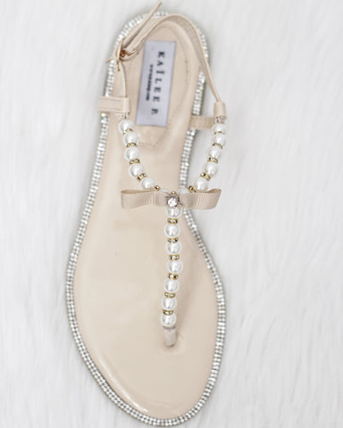 Beige wedding sandals
