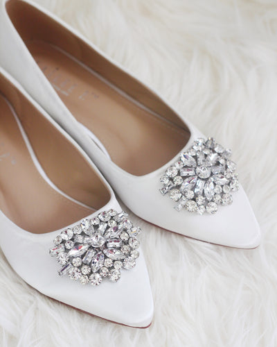 brooch off white wedding shoes