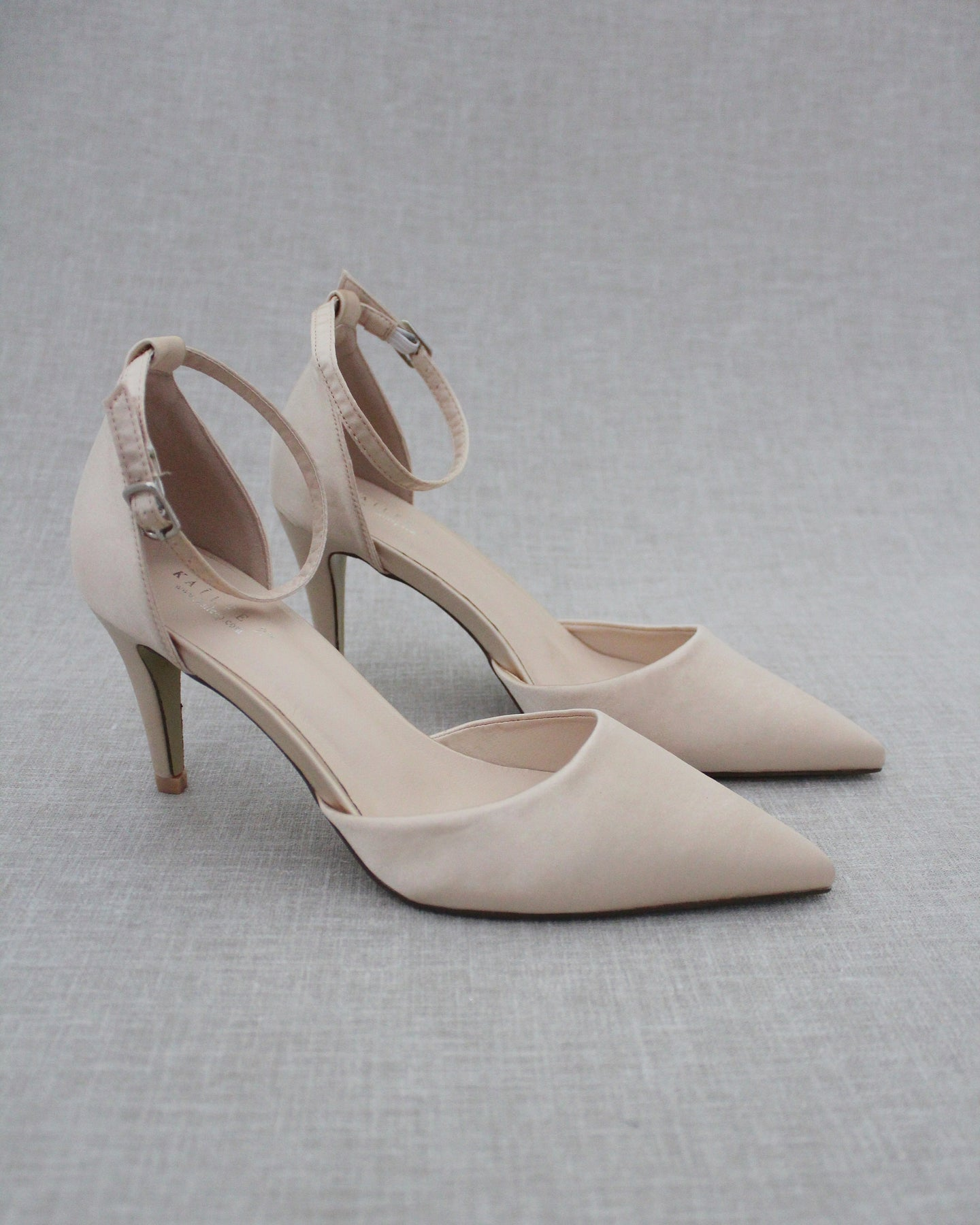 LIGHT BLUE SATIN Pointy Toe flats with sparkly rhinestones across the toe with satin ankle tie Bridesmaid Shoes Somet Women Wedding Shoes