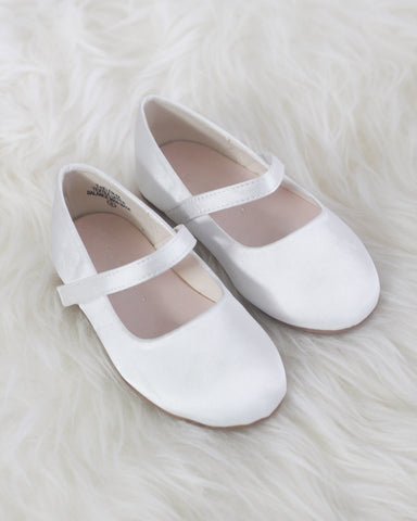 ivory satin shoes