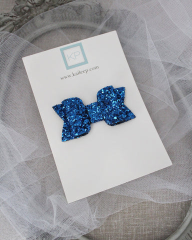 ELECTRIC BLUE Rock Glitter HAIR CLIP or SHOE CLIP