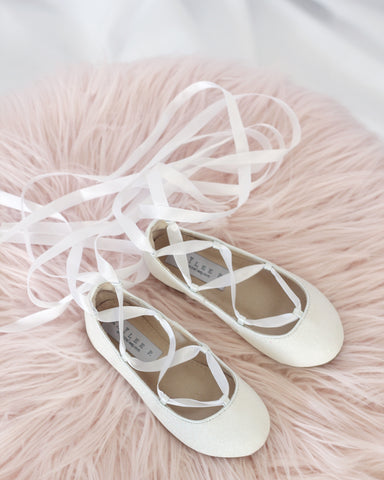 white ballerina shoes