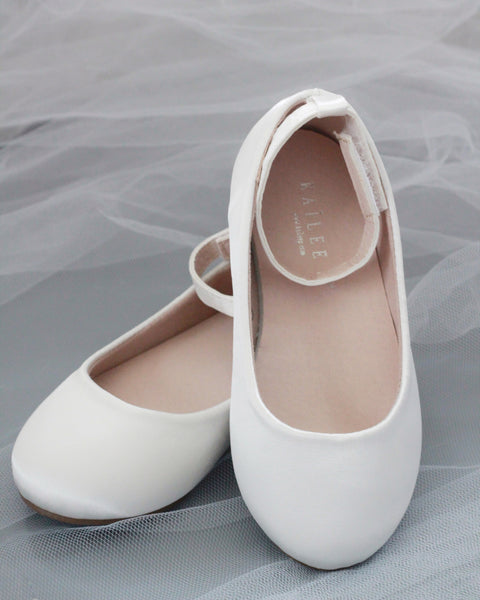girls off white ballet shoes