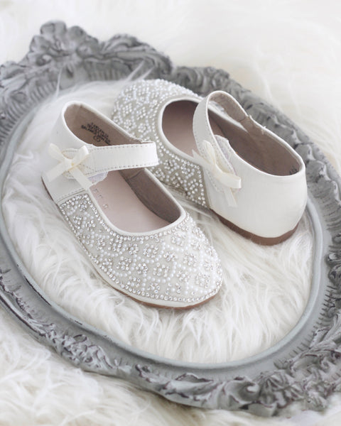 white toddler shoes with rhinestones