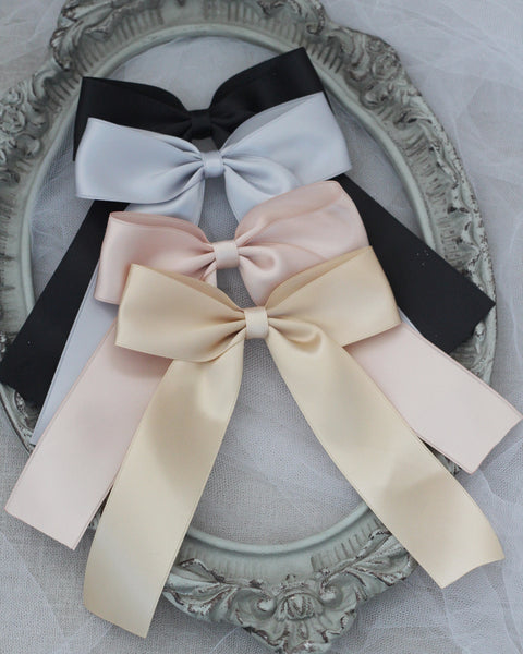 LONG TAIL Satin Hair Bows