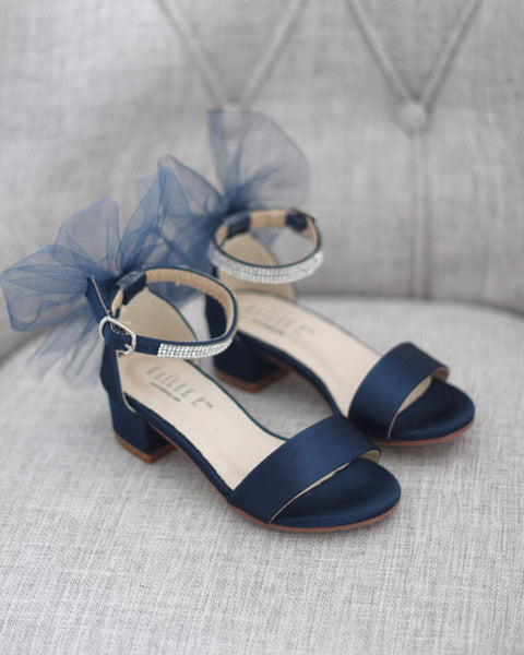 navy heels for girls