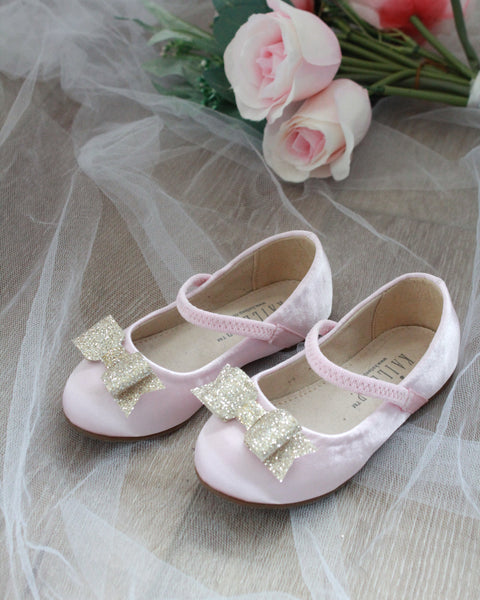 kids pink gold shoes