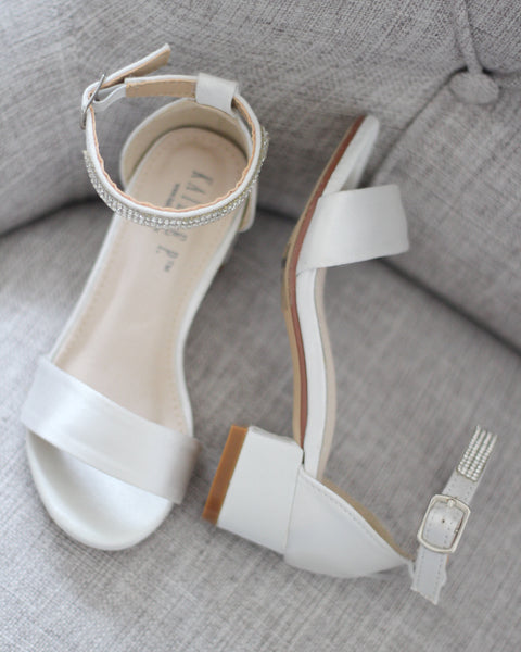 off white heels sandals for girls