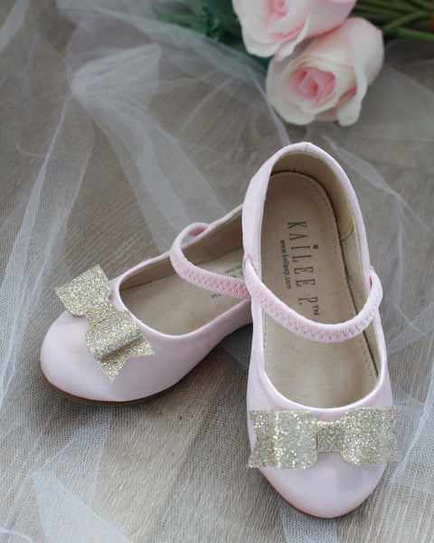 pink gold Mary Jane shoes