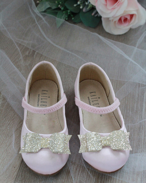 pink satin shoes for girls