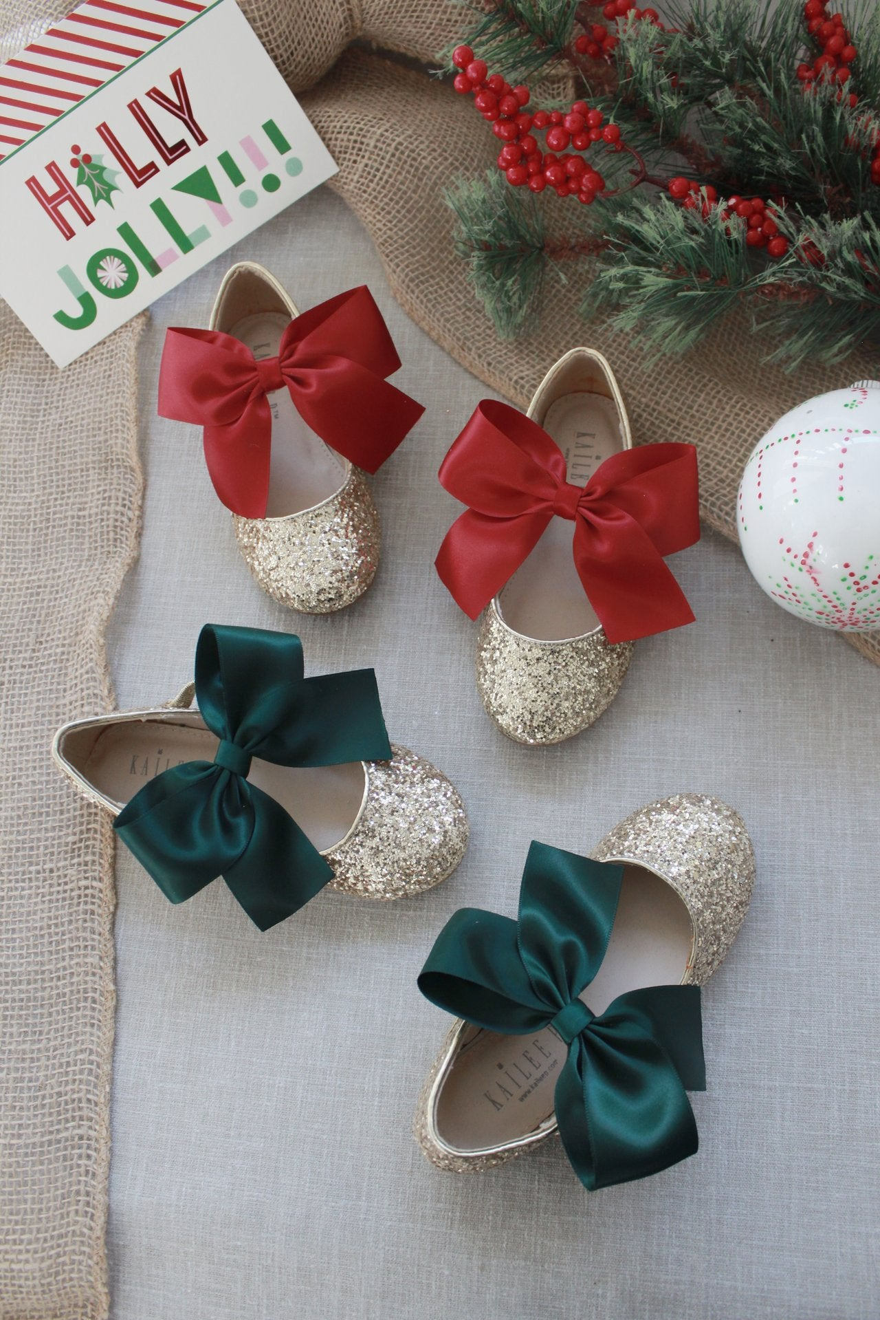 Holiday Gold Shoes for Girls