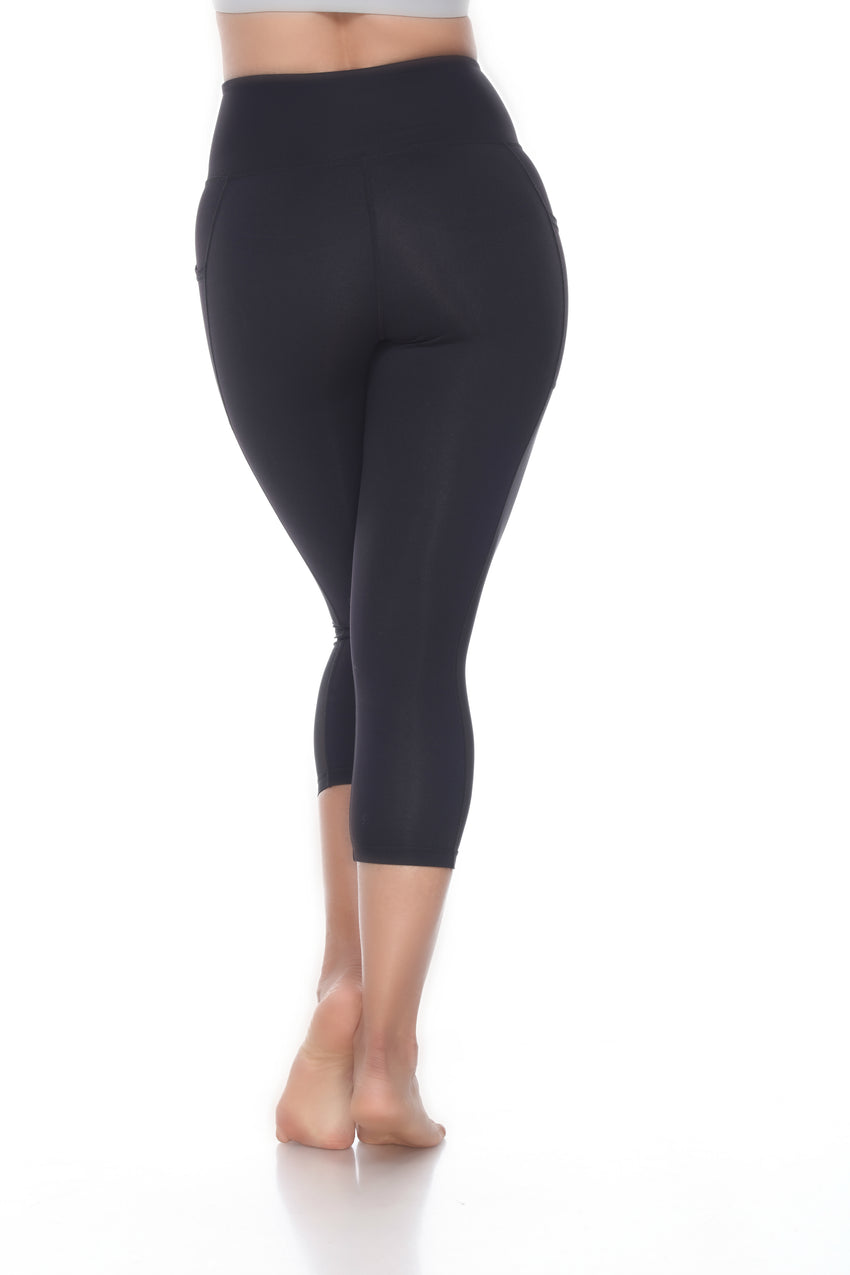 XXL Midnight Black Legging Capris