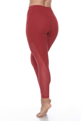The Luxi Leggings - Maroon Red